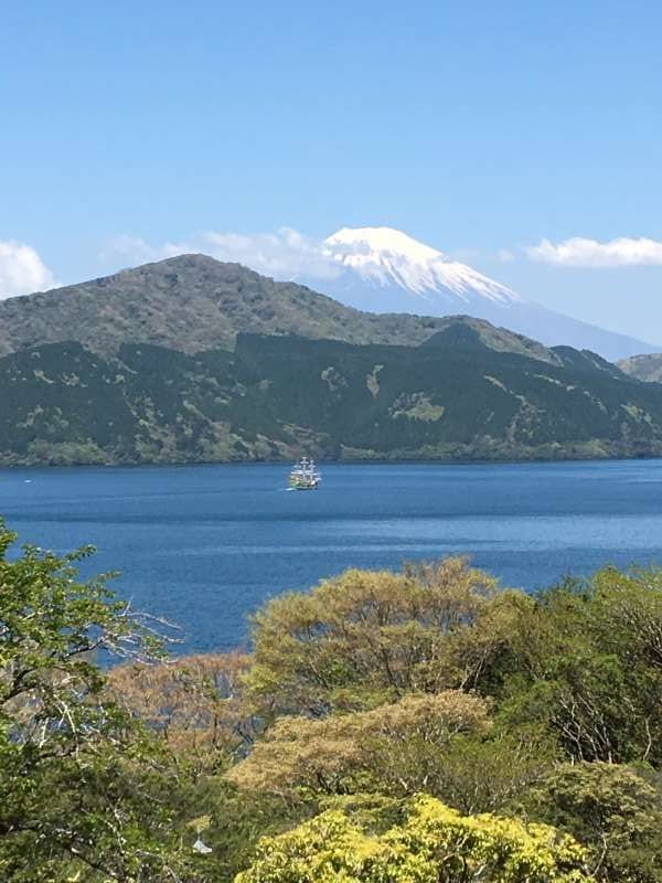 On a sunny day, you can enjoy views of Mt. Fuji.