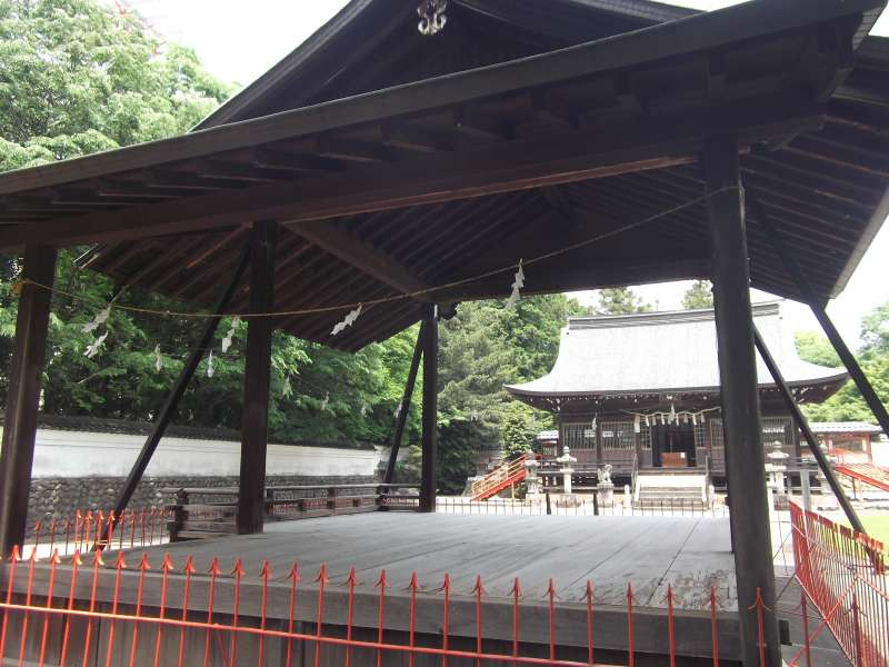 The stage for Noh(a classical stage art )at Kasuga shrine
