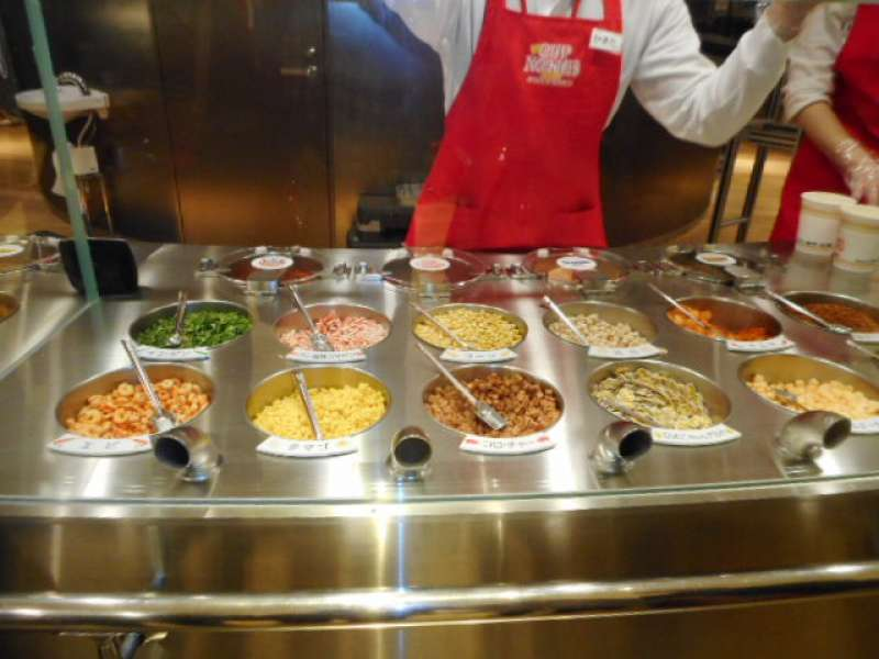Making your own cup noodles at Cup Noodles Museum is like magic