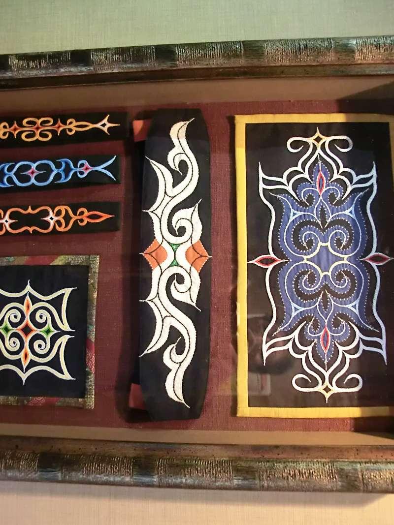 Ainu cloth with beautiful patterns