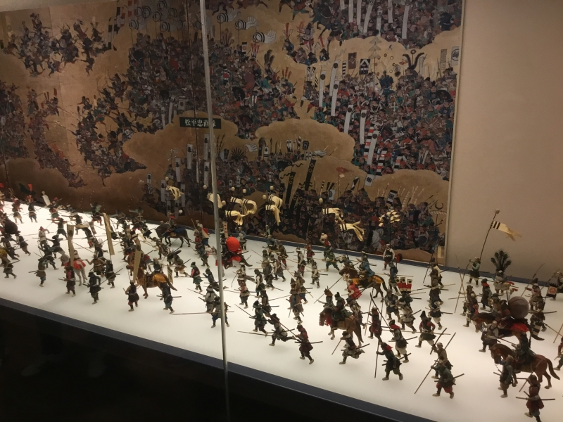One example of exhibits related with Samurai battle inside Osaka casle