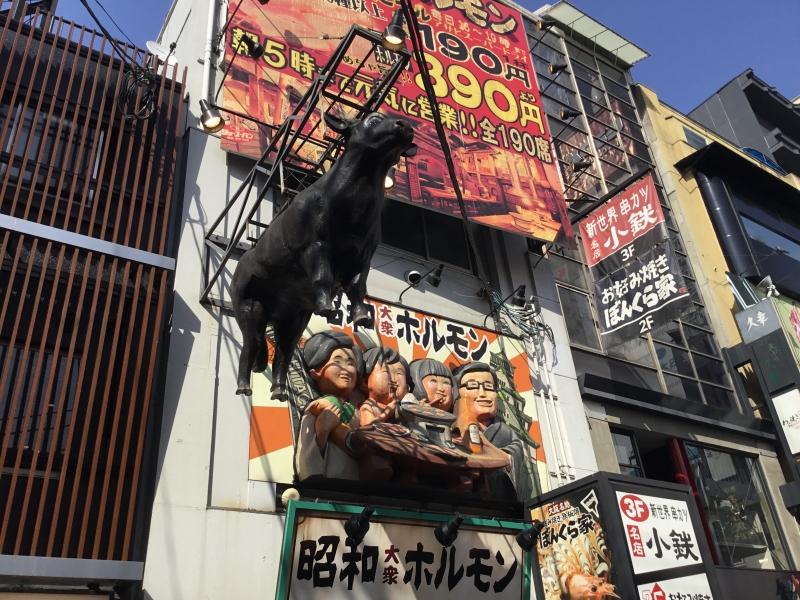 Popular foods of Okonomiyaki and Takoyaki can be tasted in Dotombori street