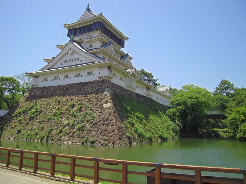 Beautiful Kokura castle was rebuilt in 1959