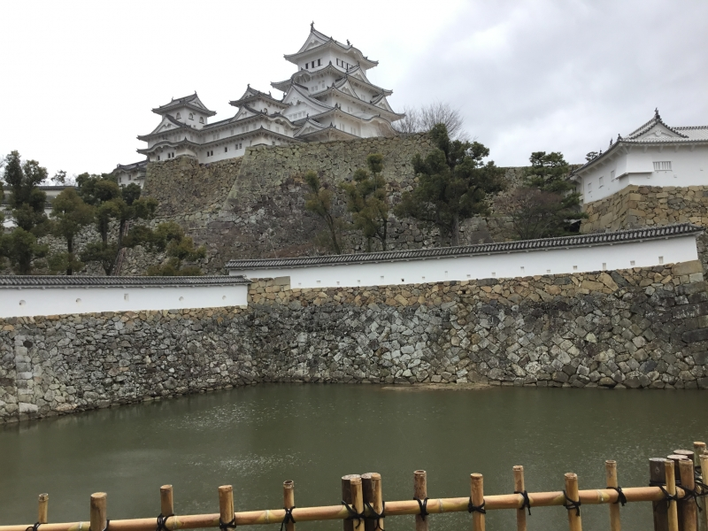 Himeji castle tower is standing by the height of 92meter of altitude.