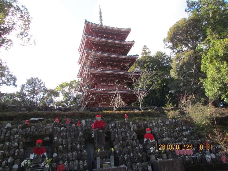 ive-story pagoda in Chikurinji