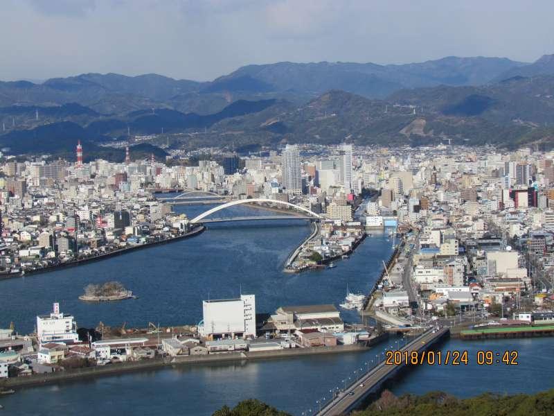 The view of Kochii city from Godaisan