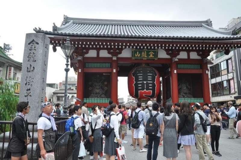 Sensoji Buddhism Temple in Asakusa area.