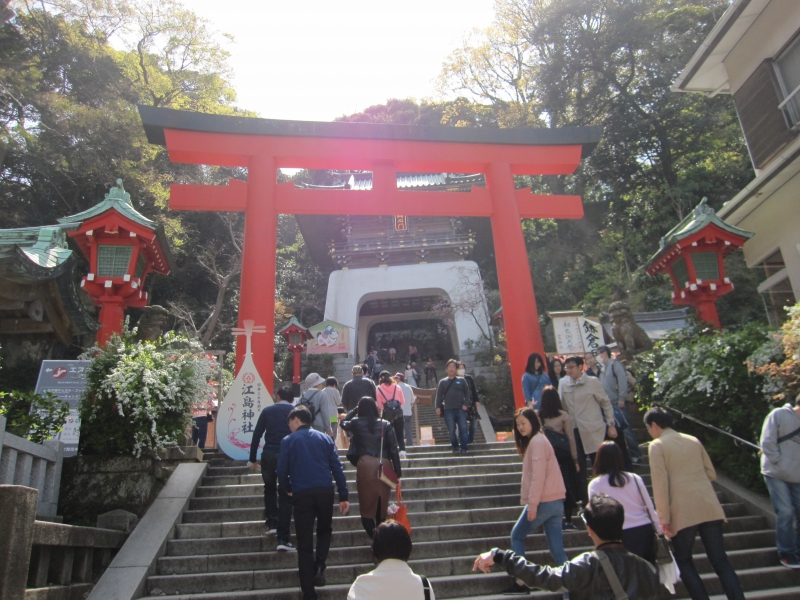 The first Tori gate to the shrine in Enoshima