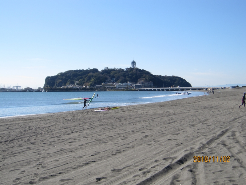 Enoshima island:an old sacred island with three old shrines.