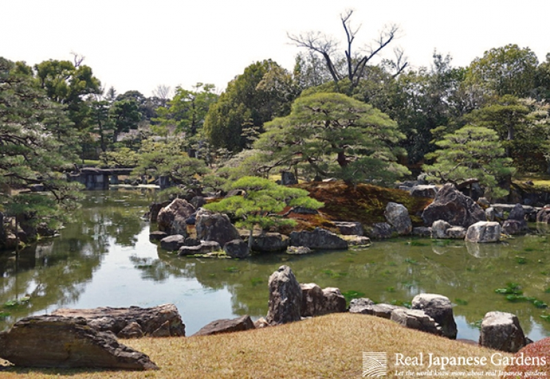 This is the garden at the Nijo castle.