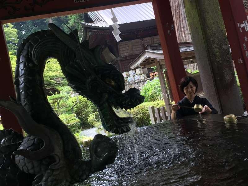 Huge basin in the shrine