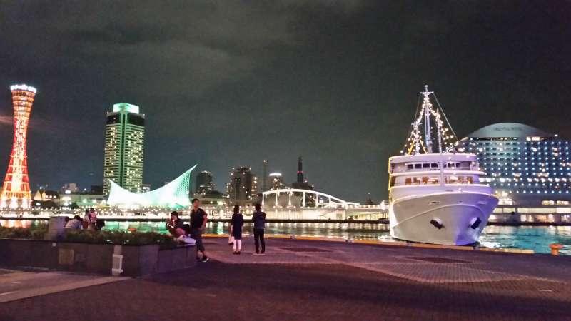 Kobe harbor area ( night view)
