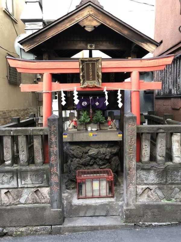 Traditional, small local shrine