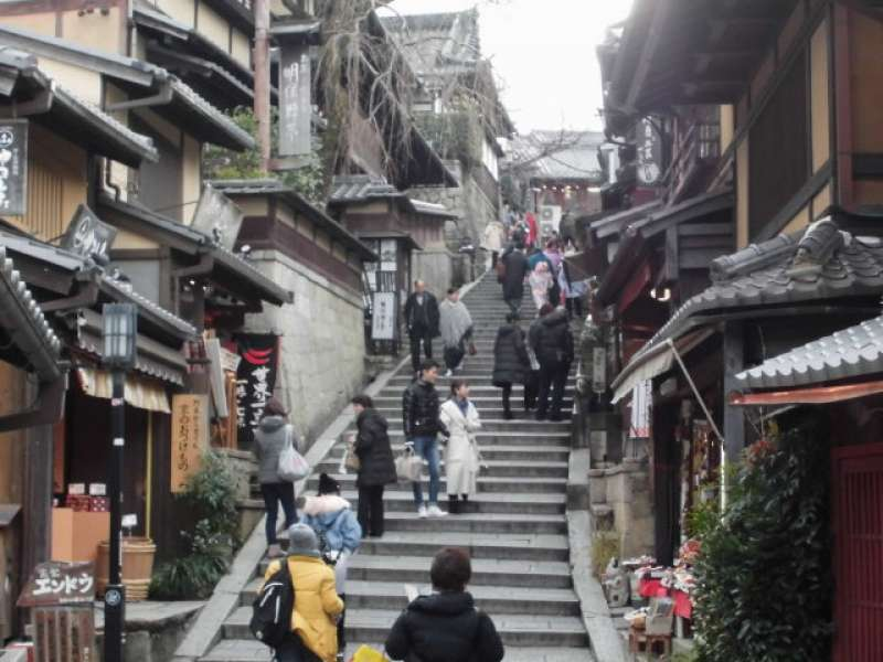 Road from Kiyomizudera temple: Ninen-zaka/Sannen-zaka