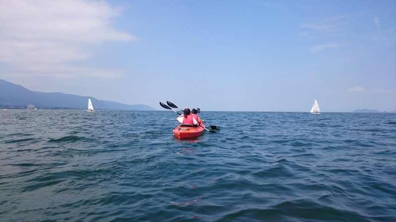 Tandem Kayak on the lake