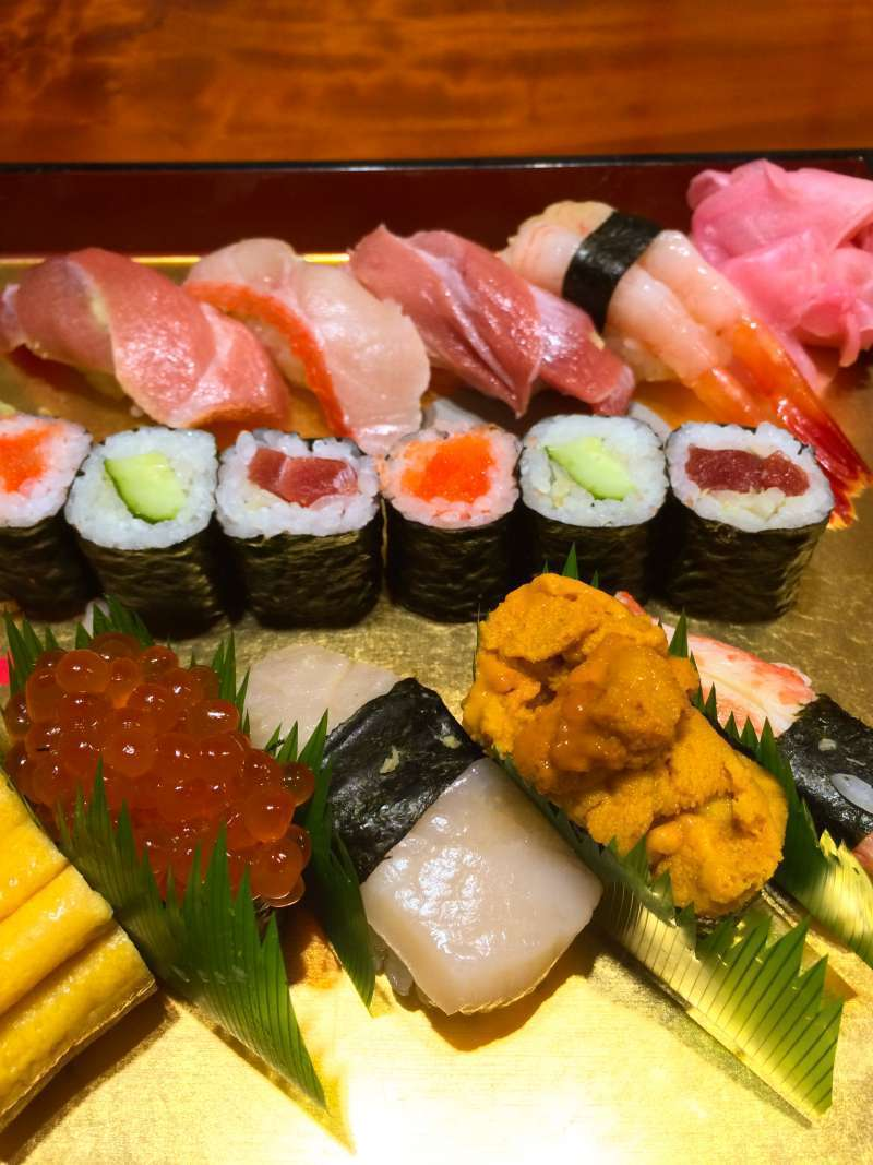 delicious lunch for Sushi lovers