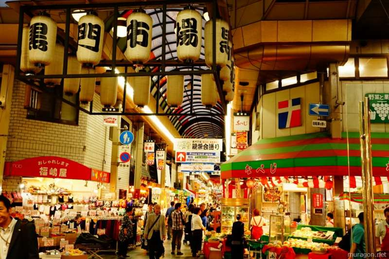7. Kuromon market (The last destination. I can take the marvelous delicious stand food shops like seafood, stake)