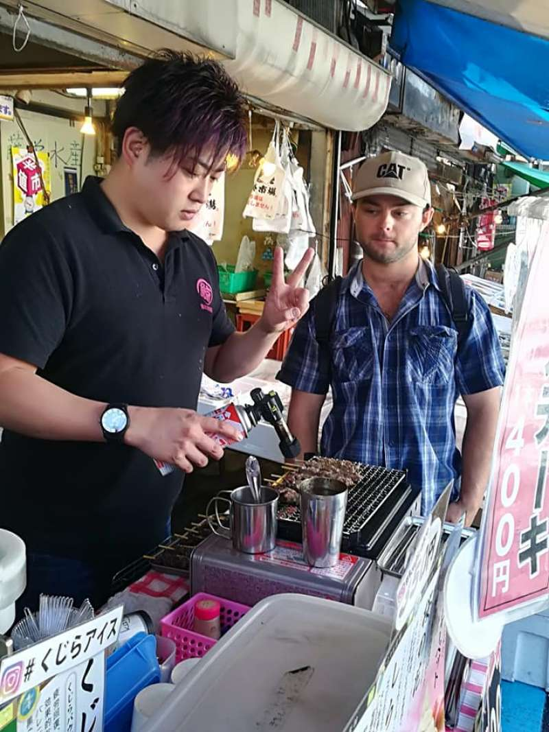 early in the morning the narrow streets of outer market are filled with nice smell of grilled chicken, tuna and others.
