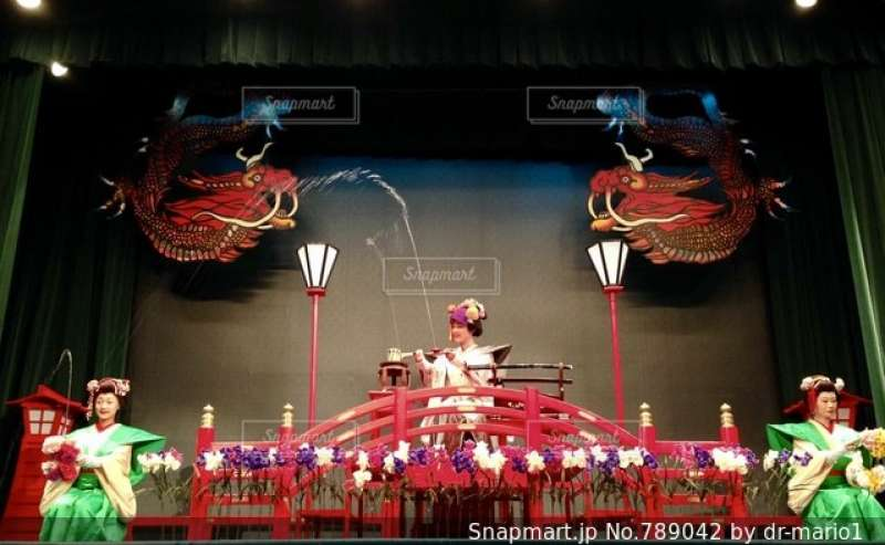 Traditional performance of water magic which has continued for 1000 years.