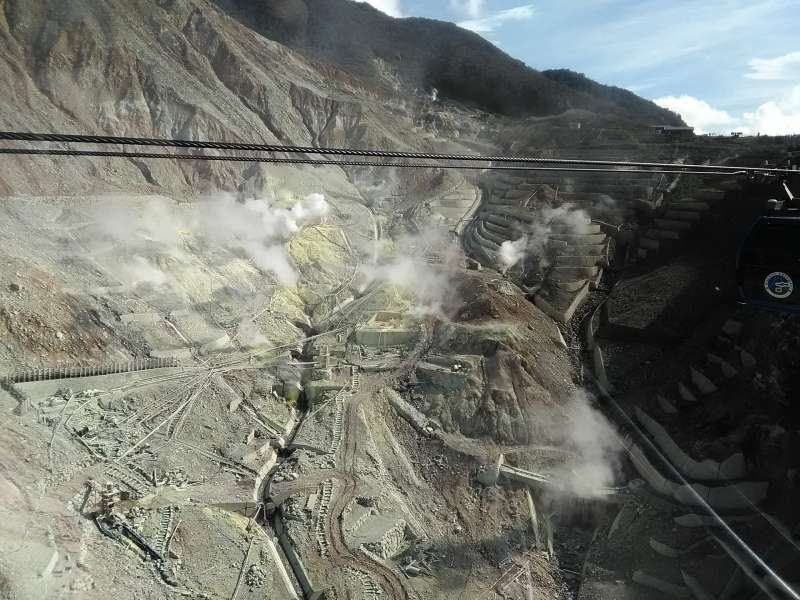 Owakudani makes you feel the geothermal energy of volcanos.