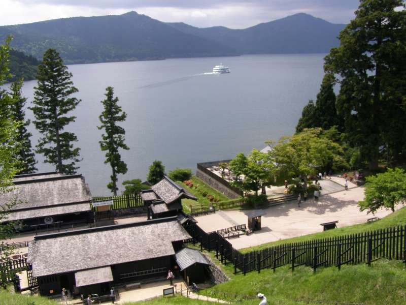 Restored Hakone Checkpoint is a passport control office built by the Edo feudal government.