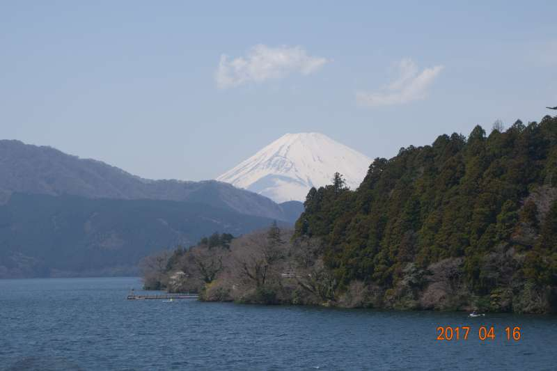 Mt.Fuji from lake Ashi in Hakone