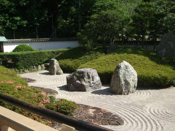 The rock garden in Komyoji Temple