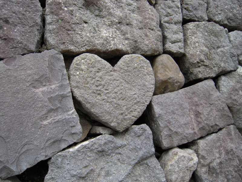 Good luck for finding this heart shaped rock near the spectacle bridge!