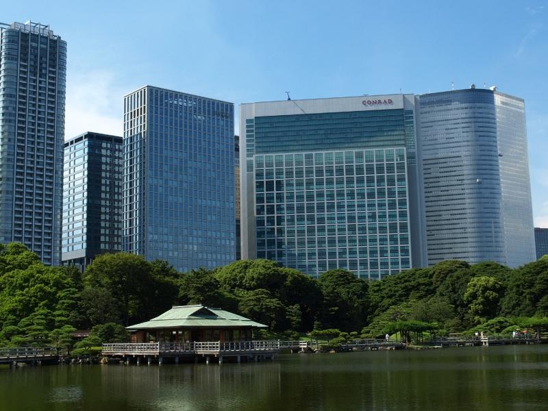 View from Hama-rikyu Garden