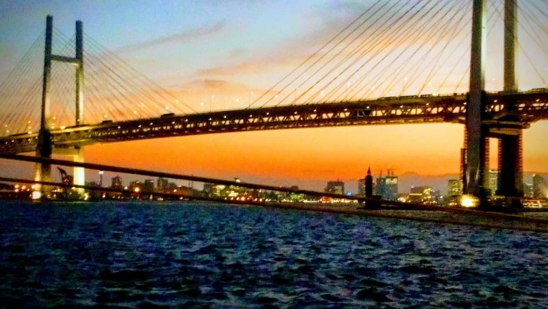 Rainbow Bridge was built in 1993 and became the symbol of Yokohama.