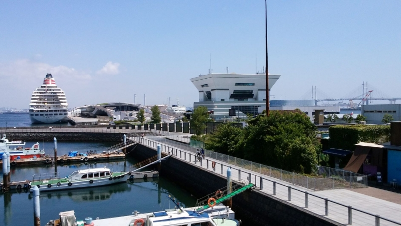 In olden days, Yokohama was just a small fishers' town.