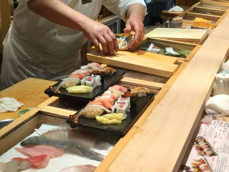 This sushi bar is difficult to find but serves the best tuna and sea urchin