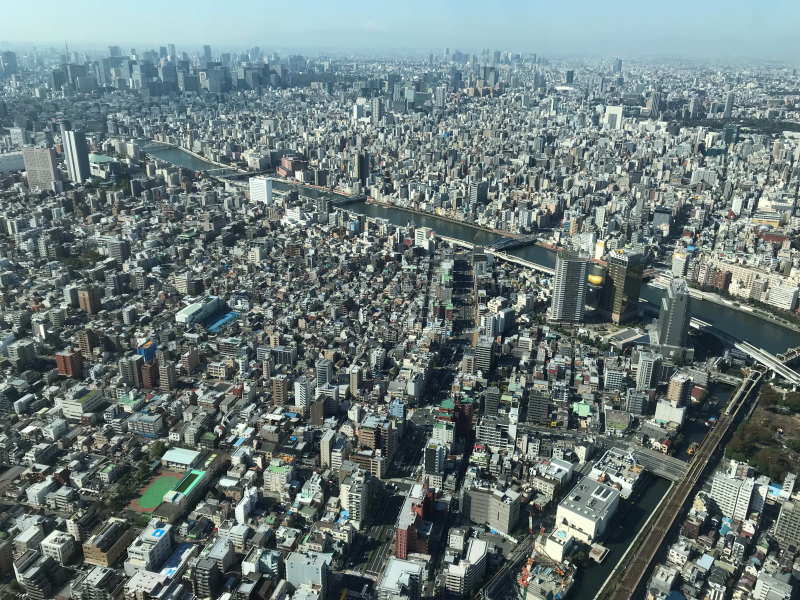 First let's get the bird`s eye view of Tokyo for the overall perspective of the city