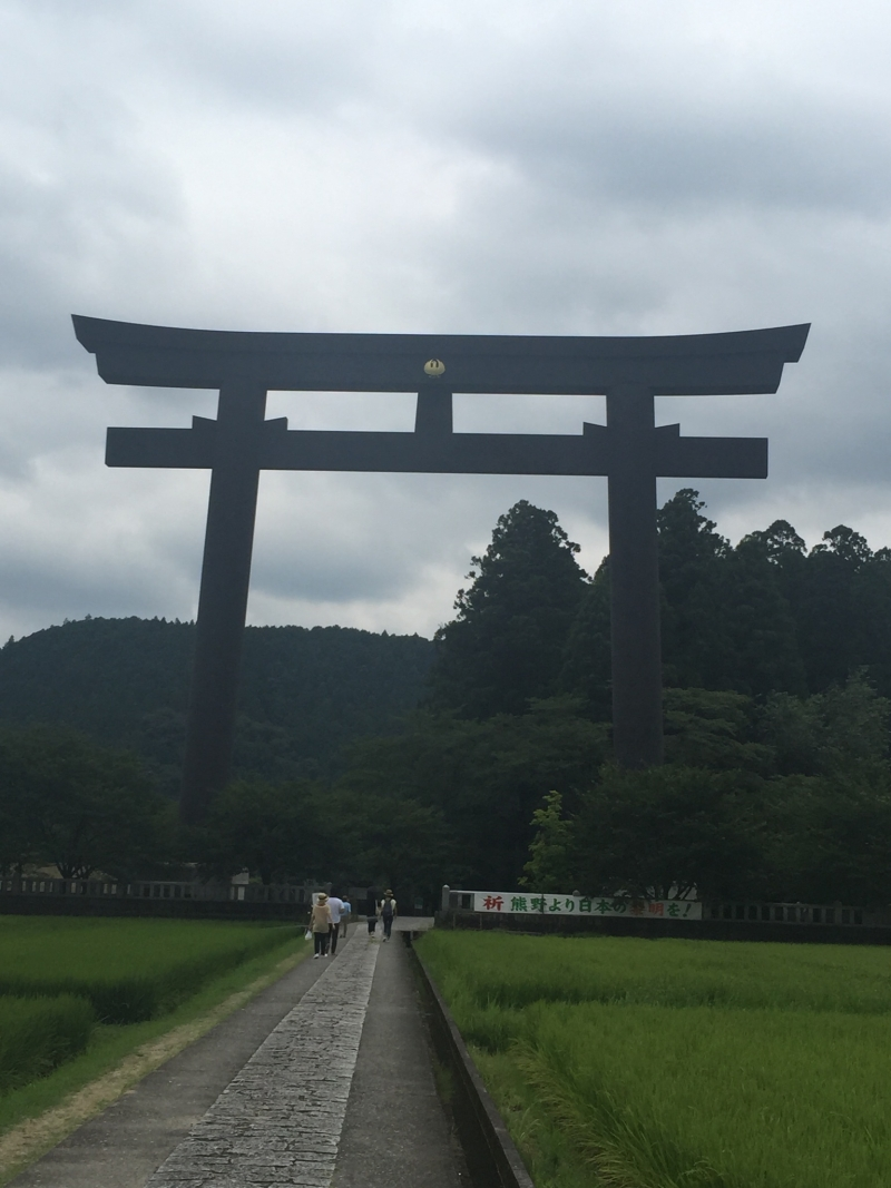 A biggest shrine gate in all of Japan