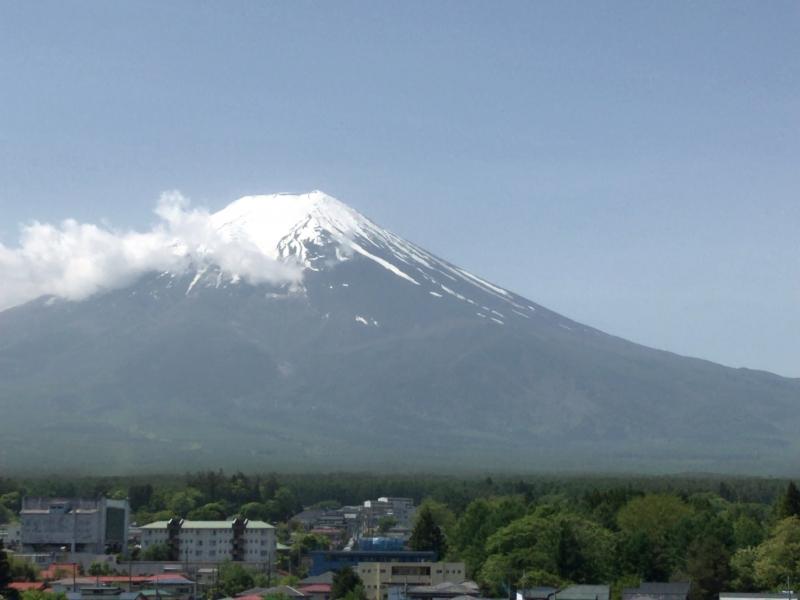 Mt. Fuji, seen from Fujisan Station