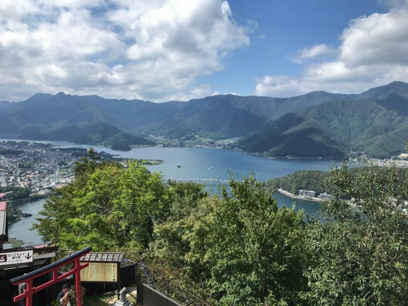 Lake Kawaguchi seen from Mt. Tenjo