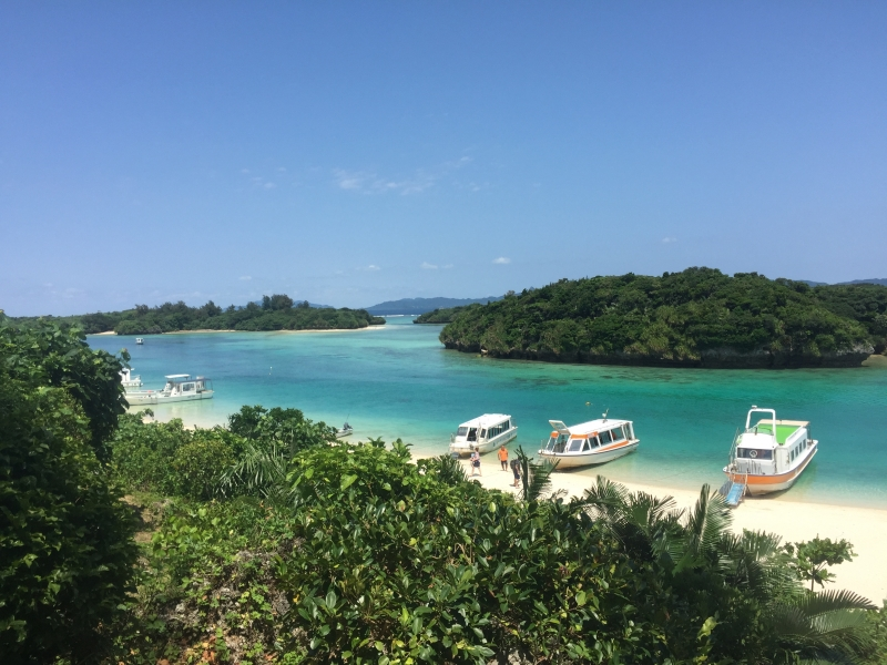 At Kabira bay, one of the most famous view not only Ishigaki but also Japan