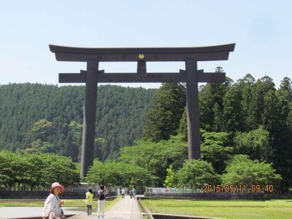 Oyunohara shrine gate (the greatest shrine gate)