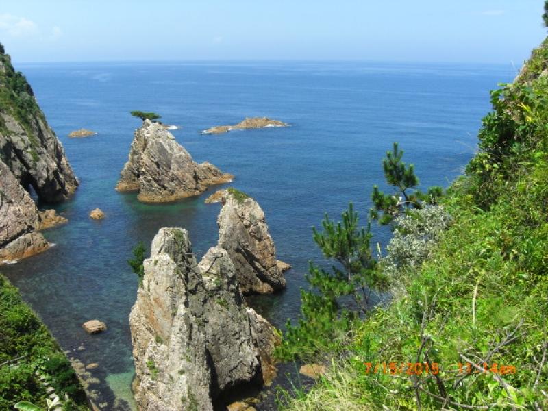 A view of Uradome coast.