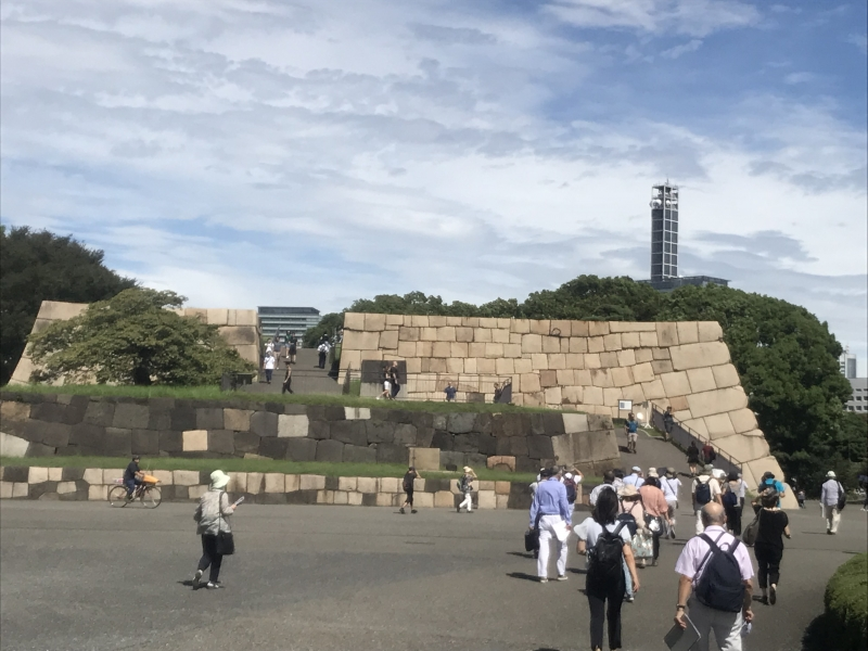Imperial Palace East Gardens : Stone Foundation of the Main Tower