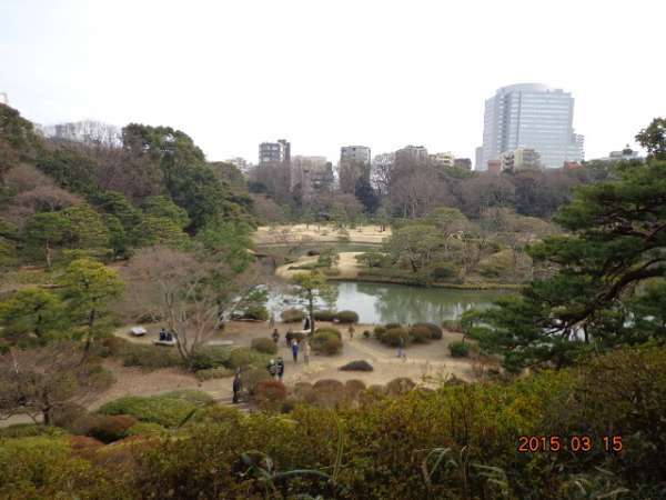 Rikugien Gardens  (300Yen (65 years old and over : 150 Yen) )
