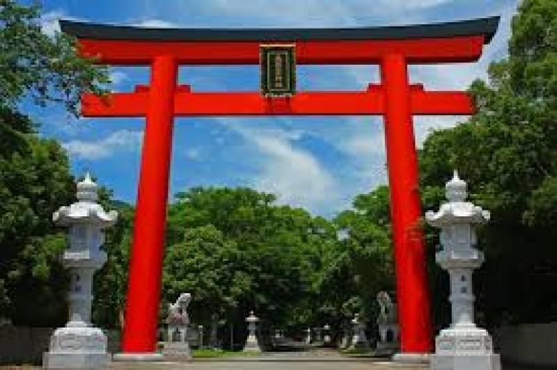 The torii gate of Ooasahiko-jinja shrine