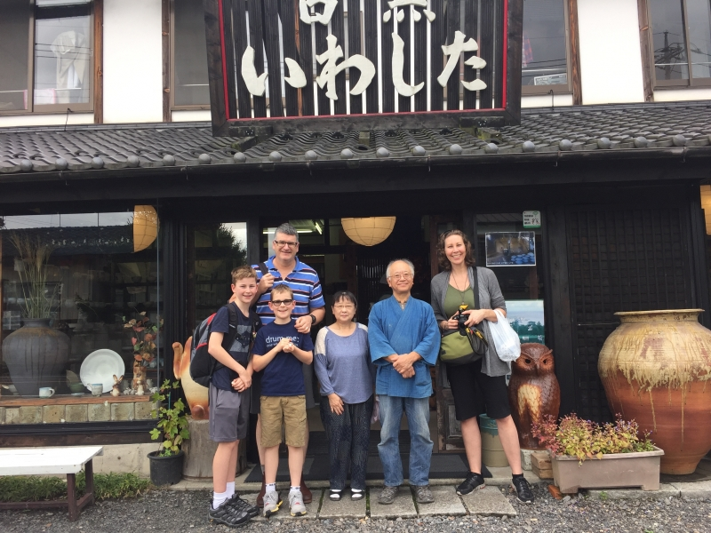 A family I guided with a pottery couple.