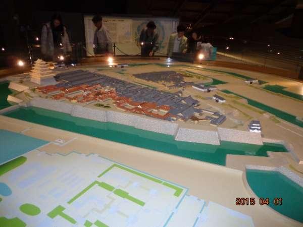 Edo (present-day Tokyo) Tokyo Museum  - model of Edo Castle in early 1600s