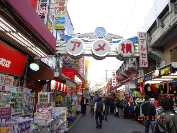 Ameyoko Shopping Street (in Ueno)