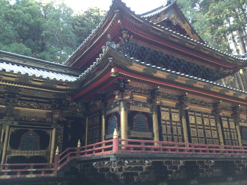 Taiyu-In of Rinno-Ji Temple (Main worship hall decorated with lots of gold)