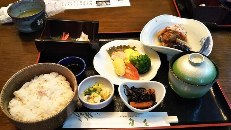 You can enjoy local Foods at a restaurant in the city.