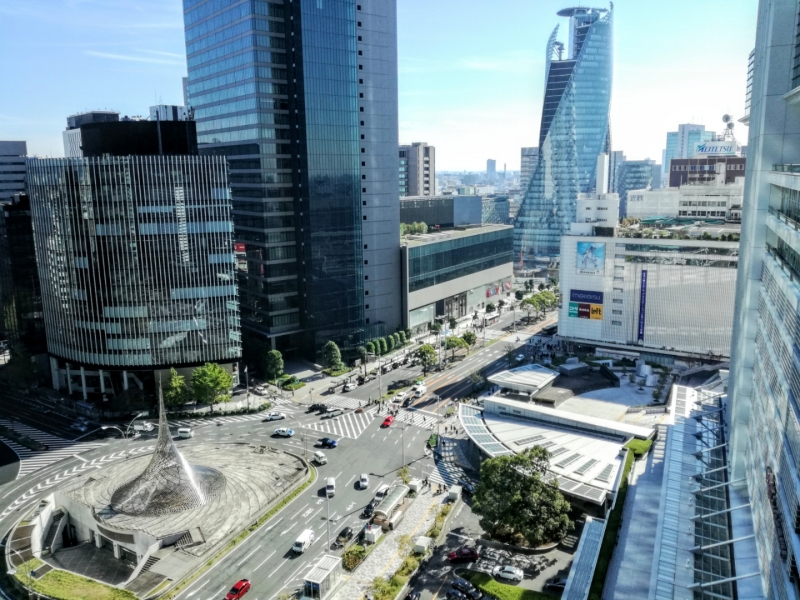 Nagoya station view from JR gate tower