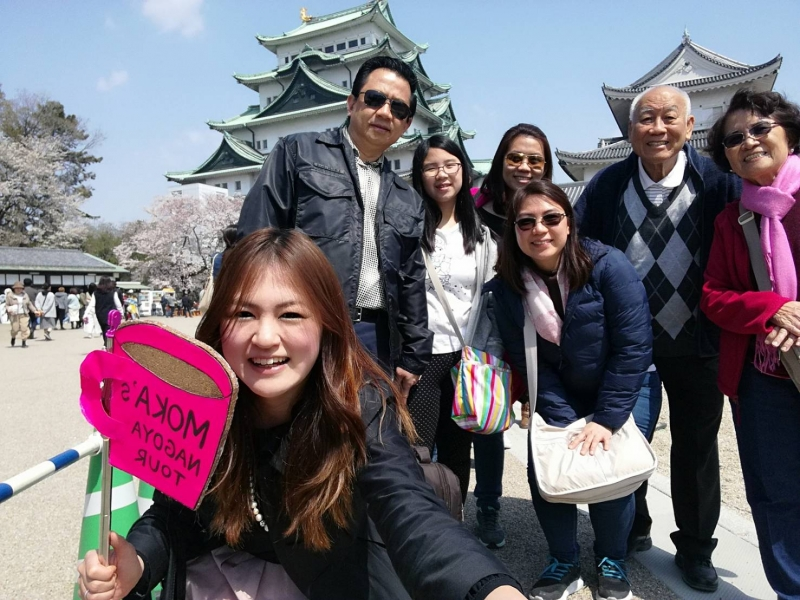 Nagoya Castle explore with my family guests from Philippine!!
