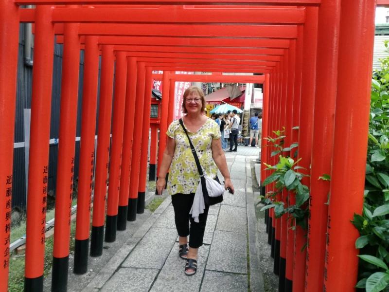Visiting small shrine in Osu